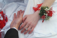 detaljer mig bröllop royaltyfria bilder