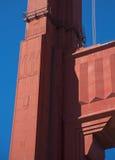 Detaljer och fragment av golden gate bridge Arkivfoton