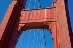 Detaljer och fragment av golden gate bridge Arkivfoto