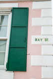 Detaljer på fjärdgatan i Nassau Arkivbilder