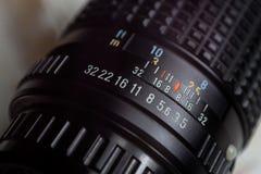 Detaljer på tappning Lens royaltyfri foto