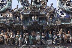 Detaljer på den kinesiska templet Arkivfoto