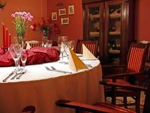 detaljer som äter middag röd lokal royaltyfri bild