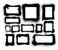 Detaljerad ærosolsprutmålningsfärg inramar och gränsar Arkivbild