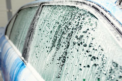 Detaljerad biltvätt Royaltyfri Bild