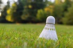 Detaljerad closeup av en badminton Arkivfoto