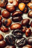 Detaljerad closeup av kaffe i stearin Royaltyfria Bilder
