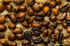 Detaljerad closeup av kaffe i stearin Arkivbild