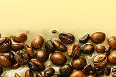 Detaljerad closeup av kaffe i stearin Arkivbilder
