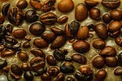 Detaljerad closeup av kaffe i stearin Royaltyfria Foton