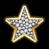 detaljerad diamantillustrationstjärna Arkivbild