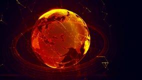 Detaljerad faktisk planetjord Arkivbild