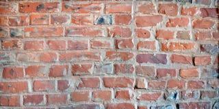 Detaljerad gammal textur för bakgrund för vägg för röd tegelsten Royaltyfria Foton