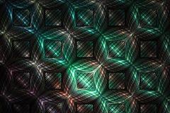 Detaljerad geometrisk prydnad för abstrakt begrepp på svart bakgrund Royaltyfria Foton