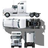 detaljerad hög halv lastbilvektor Arkivbilder