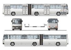 detaljerad hög stads- vektor för buss Arkivbilder