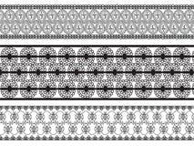 detaljerad henna för kanter Arkivbild