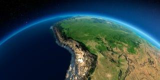Detaljerad jord Bolivia Peru, Brasilien royaltyfri illustrationer