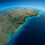Detaljerad jord. Sydamerika. Rio de La Plata royaltyfri illustrationer