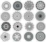 detaljerad mandala för design Arkivbilder