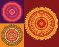 detaljerad mandala för design Royaltyfria Bilder