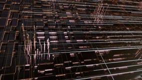Detaljerad tekniskt avancerad geometrisk abstrakt bakgrund illustration 3d arkivbilder