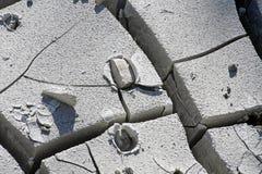 detaljerad torr mudsiktsvulkan yellowstone Royaltyfri Bild