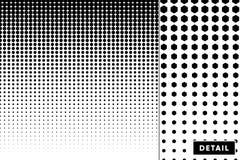 Detaljerad vektorhalvton för bakgrunder och designer royaltyfri illustrationer