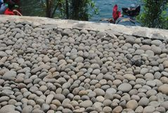 detaljerad verklig sten för bakgrund mycket royaltyfri bild