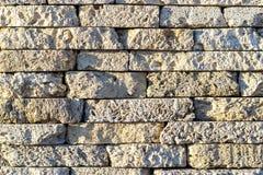 detaljerad verklig sten för bakgrund mycket Bakgrundstextur av en sten- och marmorvägg Arkivbild