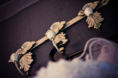 Detaljerade ämbetsdräktknoppar för antikvitet Royaltyfri Foto