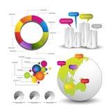 Detaljerade beståndsdelar av infographicsen Fotografering för Bildbyråer