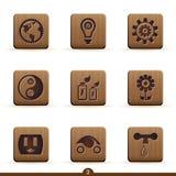 detaljerade ekologisymboler Arkivfoto