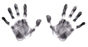 detaljerade händer skrivar ut mycket Arkivfoto