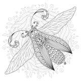 Detaljerat dekorativt skissar av en mal vektor illustrationer