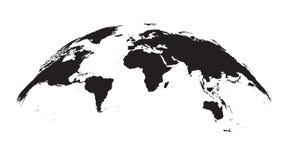 Detaljerat världskartajordklot stock illustrationer