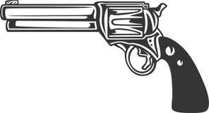 Detaljerat vapen - revolverpistol stock illustrationer