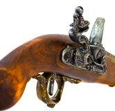 detaljflintlockpistol Fotografering för Bildbyråer