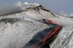 Detaljfloder av lava Arkivbild