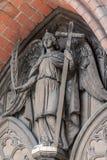 Detaljfoto av en ängel på den dåliga Doberan domkyrkan arkivbild