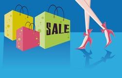Detaljhandel- och shoppingkort royaltyfri illustrationer