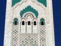 detaljhassan ii morocco för 2 casablanca moské Arkivbild