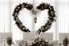 detaljhjärtabröllop Arkivfoton