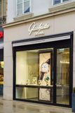 Detaljist av det lyxiga klockamärket Glashutte, Wien, Österrike royaltyfri fotografi