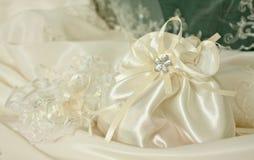 detaljklänningbröllop Arkivbild