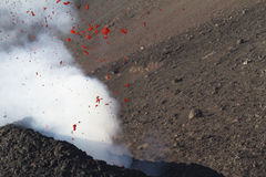 Detaljlapillien och vulkaniskt bombarderar Royaltyfria Bilder