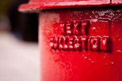 detaljpostbox Fotografering för Bildbyråer