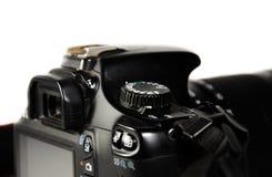 Detaljsikt av den moderna DSLR-kameran arkivbild
