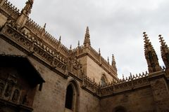 Detaljsikt av det gotiska taket Royaltyfria Foton
