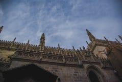 Detaljsikt av det gotiska taket Fotografering för Bildbyråer